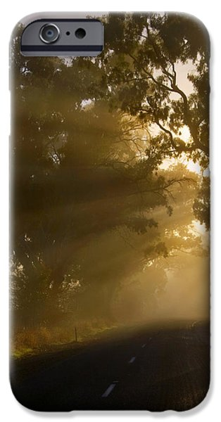 Mist iPhone Cases - A Road less Traveled iPhone Case by Mike  Dawson