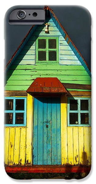Best Sellers -  - Cabin Window iPhone Cases - A Rustic Colorful House iPhone Case by Jess Kraft