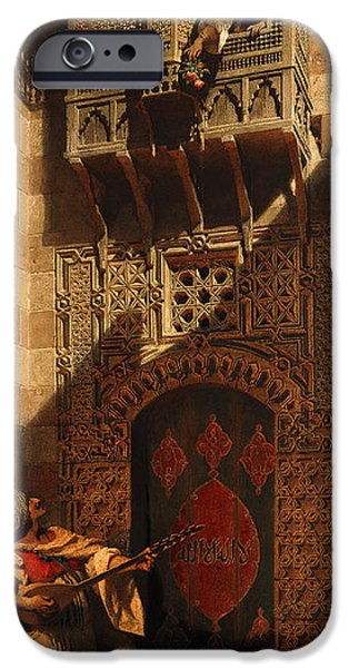 Balcony iPhone Cases - A Serenade in Cairo iPhone Case by Carl Haag
