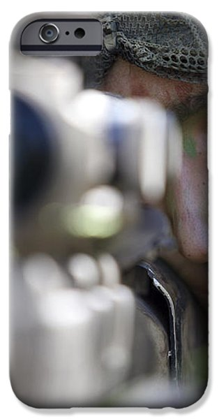 A Sniper Sights In On A Target iPhone Case by Stocktrek Images