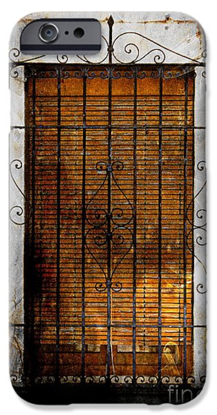 Buildings Mixed Media iPhone Cases - A Spanish Window iPhone Case by Clare Bevan