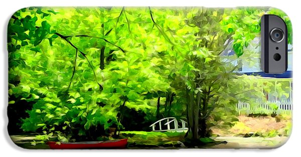 Nature Abstract iPhone Cases - A Spring Afternoon iPhone Case by Ed Weidman