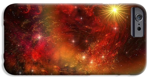 Stellar iPhone Cases - A Star Explodes Sending Out Shock Waves iPhone Case by Corey Ford