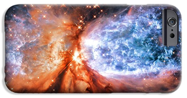Constellations iPhone Cases - A Star is Born Golden iPhone Case by Johari Smith