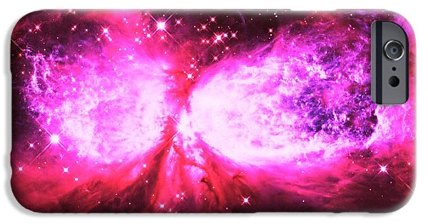 Constellations iPhone Cases - A Star is Born Pink iPhone Case by Johari Smith