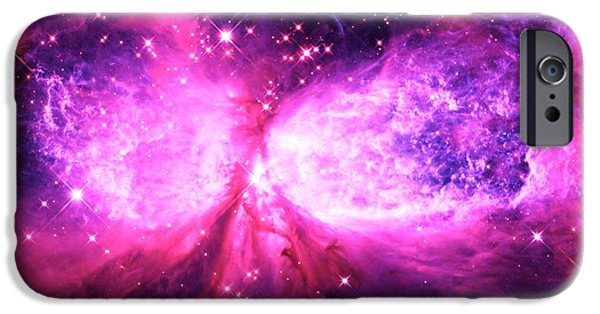 Constellations iPhone Cases - A Star is Born Pink Purple iPhone Case by Johari Smith