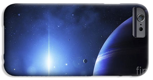 Stellar iPhone Cases - A Star Provides A Cool Glow On A Nearby iPhone Case by Justin Kelly