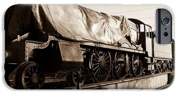 Swindon iPhone Cases - A steam train under the covers iPhone Case by Steven Sexton
