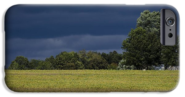 Crops iPhone Cases - A Storm Is Coming iPhone Case by Andrea Silies