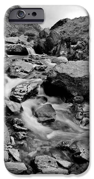 Dave iPhone Cases - A stream in Snowdonia iPhone Case by David Hare