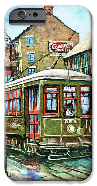 French Quarter Paintings iPhone Cases - A Streetcar Named Desire iPhone Case by Dianne Parks