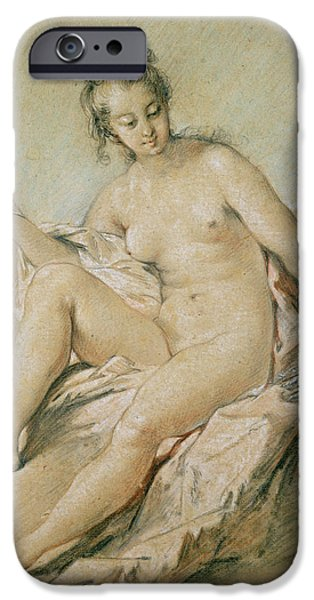Lady Pastels iPhone Cases - A study of Venus iPhone Case by Francois Boucher