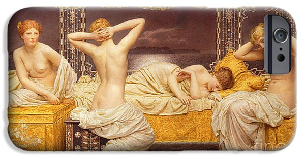 Lesbian Paintings iPhone Cases - A Summer Night iPhone Case by Albert Joseph Moore