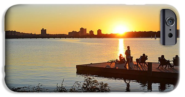 Boston Ma iPhone Cases - A summer sunset on the Charles River iPhone Case by Toby McGuire