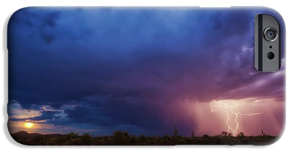 Raining iPhone Cases - A Tale of Two Nights iPhone Case by Rick Furmanek