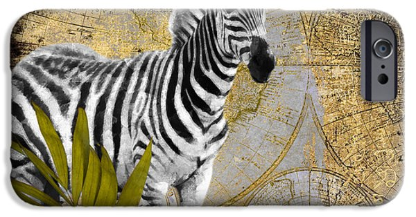 Zebra iPhone Cases - A Taste of Africa Zebra iPhone Case by Mindy Sommers