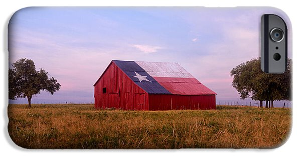 Old Barns iPhone Cases - A Texas Star Barn iPhone Case by Ronda Kimbrow