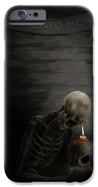 Macabre iPhone Cases - A Time To Remember iPhone Case by Lourry Legarde