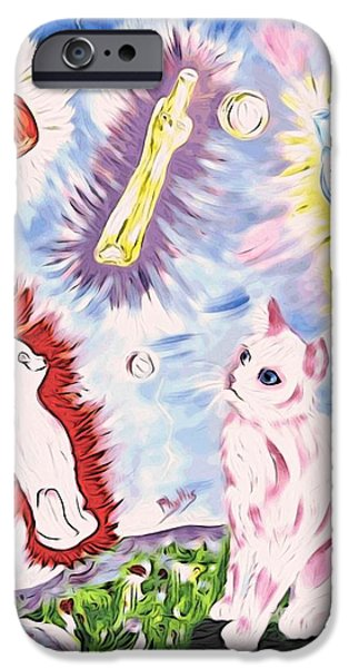 Wine Bottles iPhone Cases - A totally Unexpected Day iPhone Case by Phyllis Kaltenbach