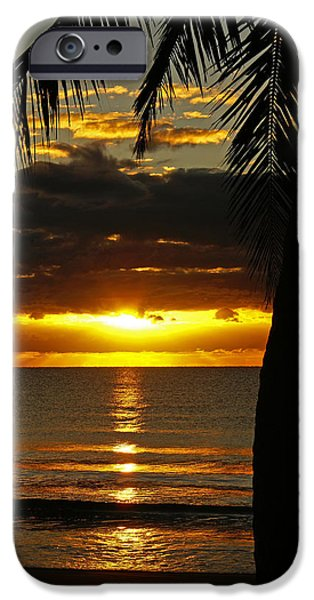 Beach Landscape iPhone Cases - A Touch of Paradise iPhone Case by Holly Kempe