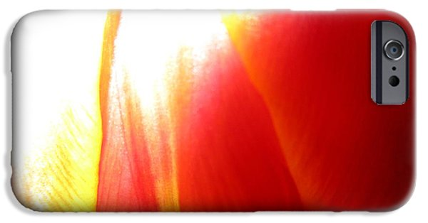 Redish iPhone Cases - A touch of yellow iPhone Case by Rosita Larsson