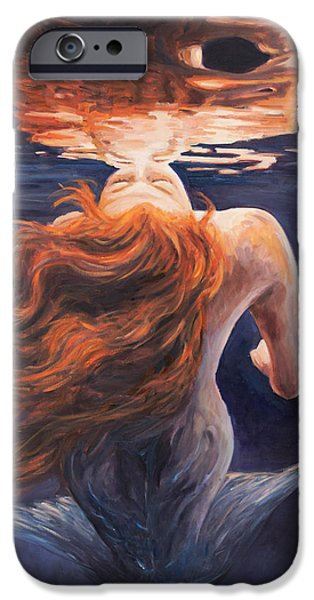 Reflection Paintings iPhone Cases - A trick of the light - love is illusion iPhone Case by Marco Busoni