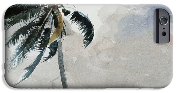 Winslow Homer iPhone Cases - A Tropical Breeze iPhone Case by Winslow Homer