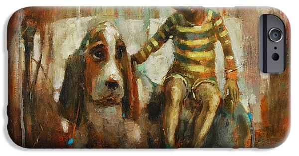 Child iPhone Cases - A True Friend iPhone Case by Michal Kwarciak