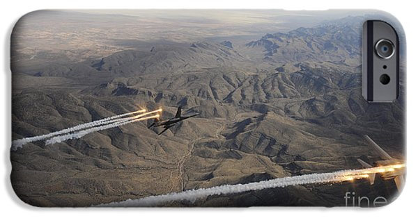Lancer iPhone Cases - A Two Ship Of  B-1b Lancers Release iPhone Case by Stocktrek Images