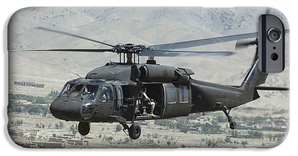 Afghanistan iPhone Cases - A Uh-60 Blackhawk Helicopter iPhone Case by Stocktrek Images