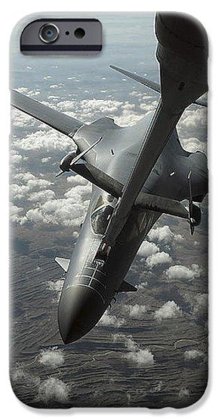 A U.s. Air Force Kc-10 Refuels A B-1b iPhone Case by Stocktrek Images