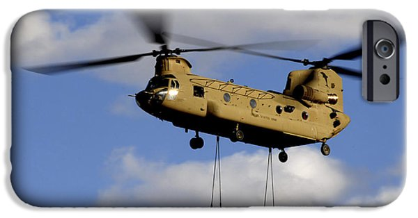 Afghanistan iPhone Cases - A U.s. Army Ch-47 Chinook Helicopter iPhone Case by Stocktrek Images