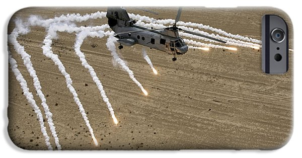 Recently Sold -  - Iraq iPhone Cases - A U.s. Marine Corps Ch-46 Sea Knight iPhone Case by Stocktrek Images