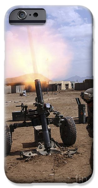 A U.s. Marine Corps Gunner Fires iPhone Case by Stocktrek Images