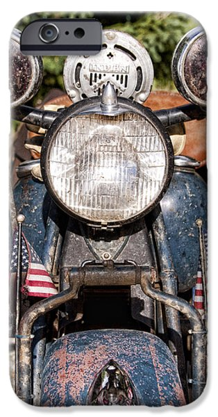 Police iPhone Cases - A very Old Indian Harley-Davidson iPhone Case by James BO  Insogna