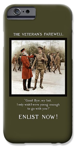 Ww1 iPhone Cases - A Veterans Farewell - WW1 iPhone Case by War Is Hell Store