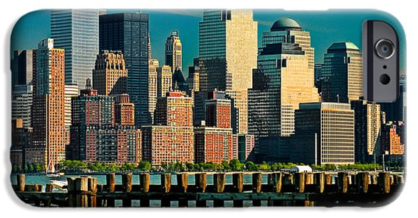 Hudson River iPhone Cases - A View From Hoboken iPhone Case by Chris Lord