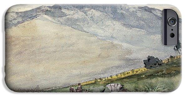 Winslow Homer iPhone Cases - A Volante on a Mountain Road Cuba iPhone Case by Winslow Homer
