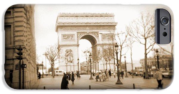 """square "" Digital iPhone Cases - A Walk Through Paris 3 iPhone Case by Mike McGlothlen"