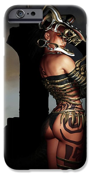 A Warrior Stands Alone iPhone Case by Alexander Butler