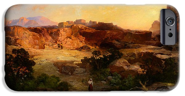 Northern Arizona iPhone Cases - A Water Pocket Northern Arizona iPhone Case by Thomas Moran