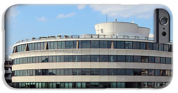 Cora Wandel iPhone Cases - A Watergate Panorama iPhone Case by Cora Wandel