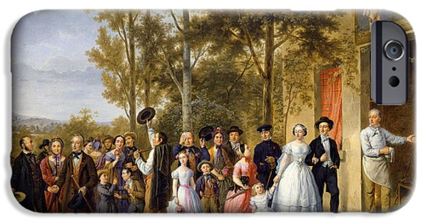 Friends Meeting iPhone Cases - A Wedding at the Coeur Volant iPhone Case by French School