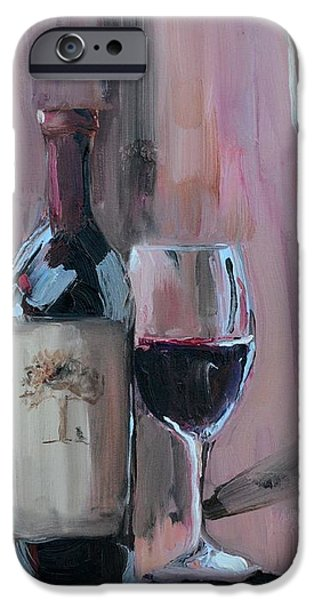 Wine Bottles iPhone Cases - A Weekend Well Spent iPhone Case by Donna Tuten