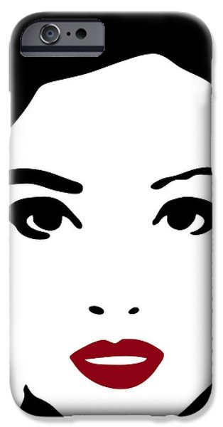 Beautiful Faces iPhone Cases - A woman in fashion iPhone Case by Frank Tschakert