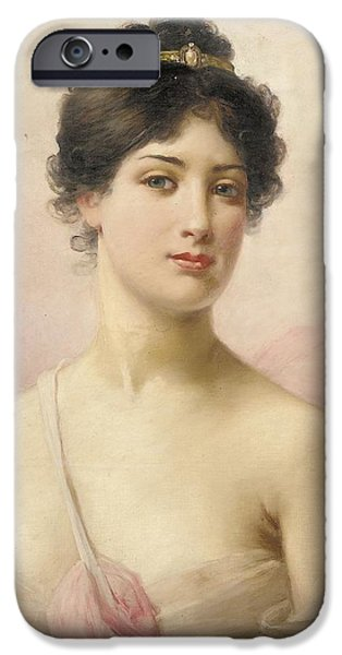 See iPhone Cases - A Young Beauty iPhone Case by Jules Frederic Ballavoine
