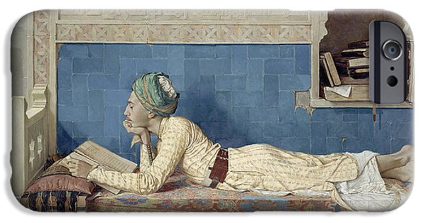Young Paintings iPhone Cases - A Young Emir iPhone Case by Osman Hamdi Bey