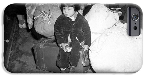Innocence Child iPhone Cases - A Young Evacuee Of Japanese Ancestry iPhone Case by Stocktrek Images