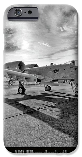 A10 Thunderbolt iPhone Case by Greg Fortier