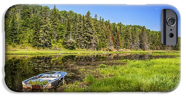 Sudbury River iPhone Cases - Abandoned by the River iPhone Case by Tim Kennedy